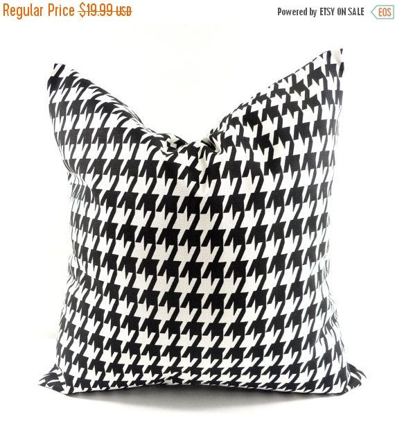 PILLOW SALE. BLACK Pillow Cover. 22x22  by TwistedBobbinDesigns