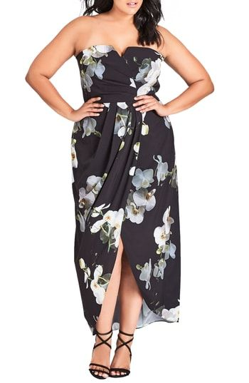 62ab00ecd0 Great for City Chic Orchid Dreams Strapless Maxi Dress (Plus Size) womens  dresses.   149  perfecttopbuy from top store