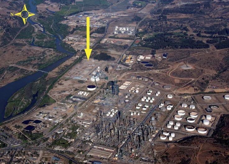 Ubicación que tendría la Central Termoeléctrica a Gas en Concón