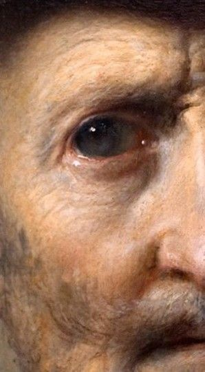 Rembrandt, hoofd (oud)