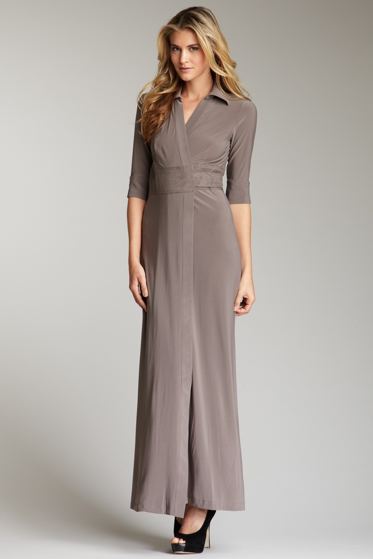 Taylor Suede Belted Wrap Dress