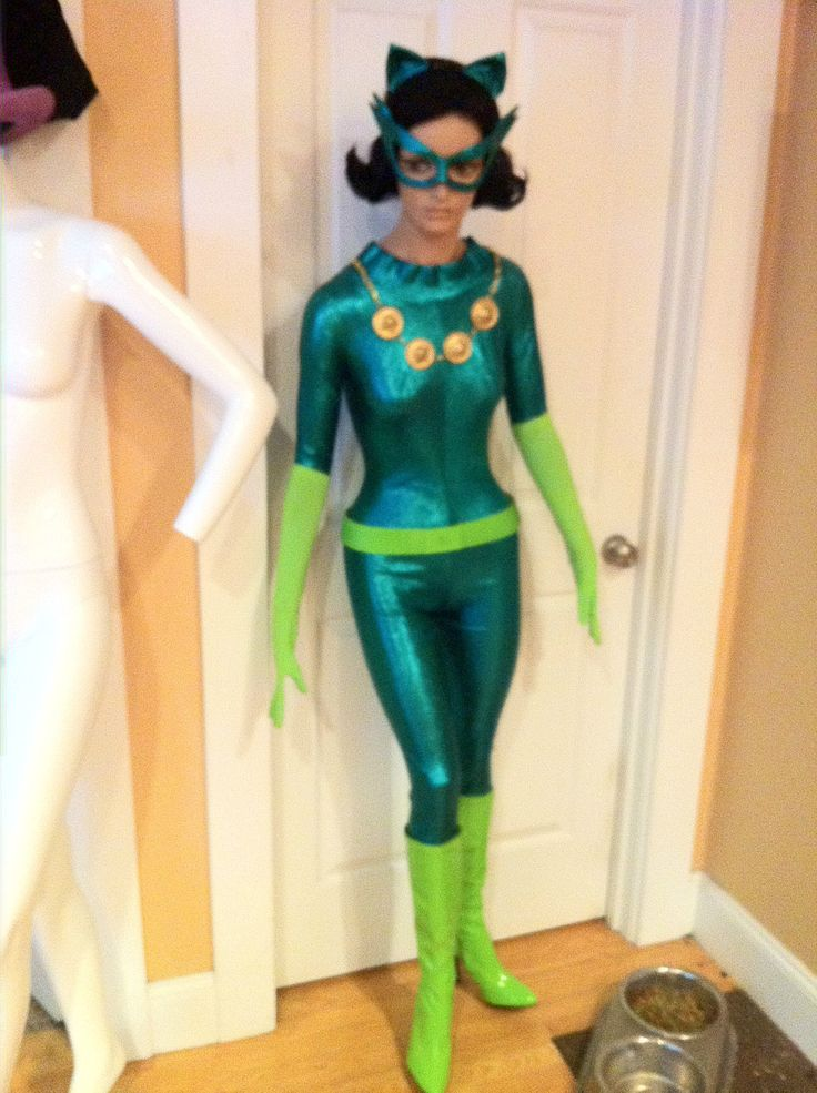 Green Costume Catwoman  Green Costumes, Catwoman, Costumes-1990