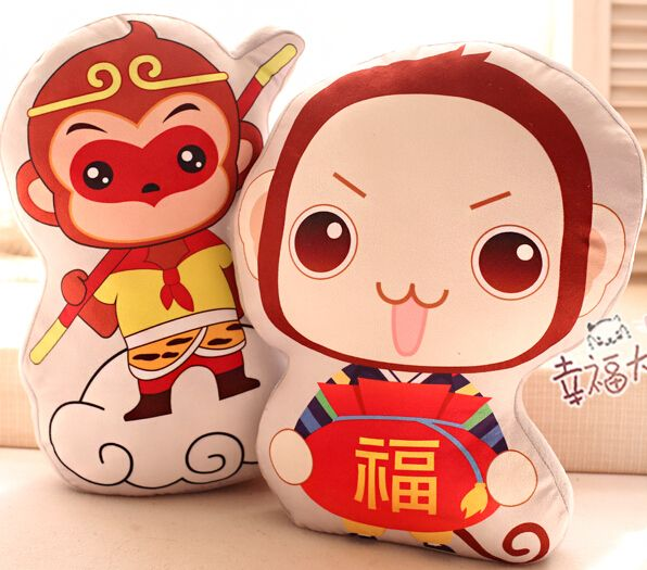 Candice guo plush toy stuffed doll cartoon lucky Sun Wukong Monkey Blessing anime pillow cushion birthday gift christmas present