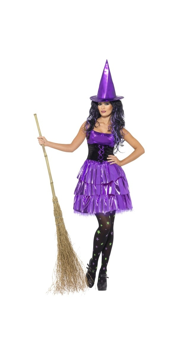 Neon Purple Witch Costume (21813) £19.99 #fancydress #costumes #halloween