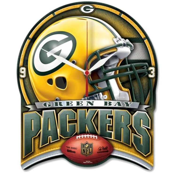 NFL Green Bay Packers Clock
