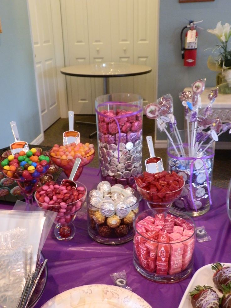 Candy Bar For Bridal Shower Wedding Pinterest Bridal