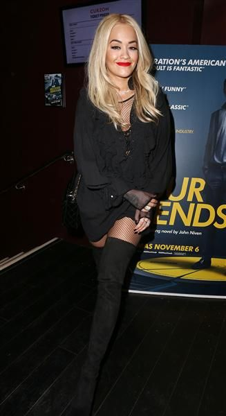 "Rita Ora attends the ""Kill Your Friends"" film screening in London on Oct. 27, 2015."