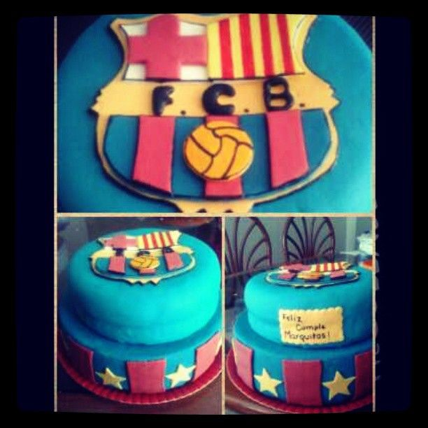 #Barça #Barza #cakeFCB Torta Barcelona España