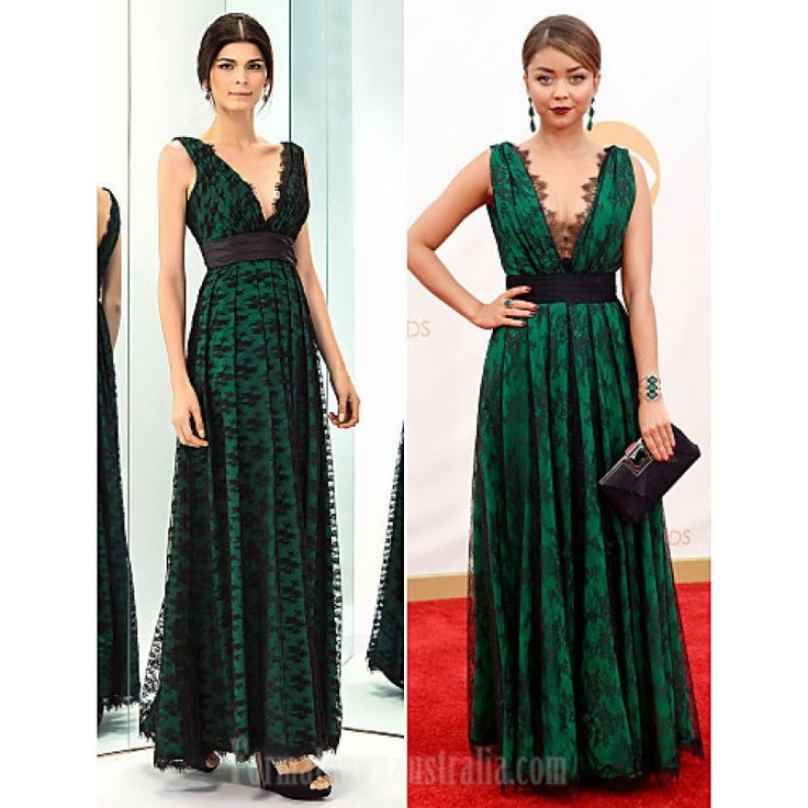 Prom Gowns Military Ball Australia Formal Evening Dress Dark Green Plus Sizes Dresses Petite A-line V-neck Long Floor-length Lace Dress Taffeta Formal Dress Australia #formaldresses #greenformaldresses #greendresses #australiaformaldresses