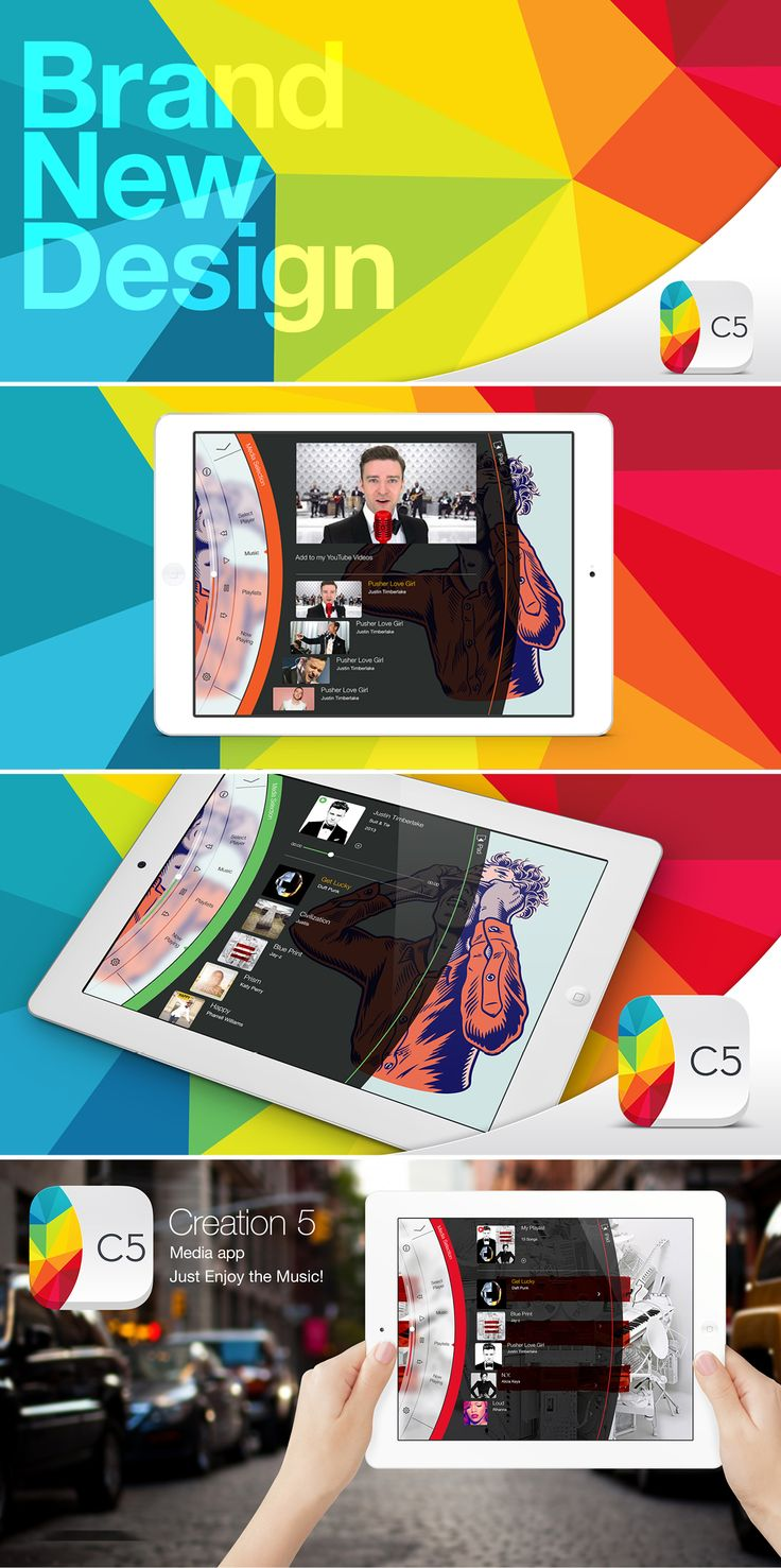 Our latest update brings a dazzling new design, faster navigation, direct search in YouTube, free music downloads and much more! #musicapp #iPadapp Find out more on our blog: http://www.creation.com.es/hello-gorgeous/