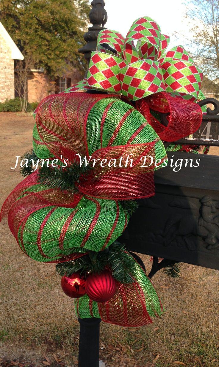 Mesh Ribbon On Christmas Trees