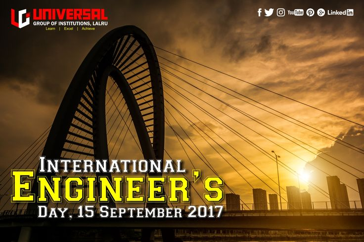 From simple machines to high end technologies that makes our life easier and faster is due to hard and dedicated research done by our Engineers.  In India Engineers Day is celebrated on 15th September to mark the Birthday of Bharat Ratna engineer Sir M. Visvesvaraya. On Engineers Day we salute to every engineer who has contributed to our lives.