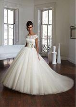 Vestido de novia lace a linha do casamento vestidos de noiva dres do vintage Elegante da colher vestidos de Casamento de Luxo 2017 Natural cintura plissada alishoppbrasil