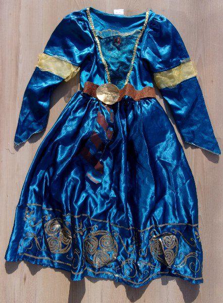 d0bcccca633d Prodám - karnevalový kostým šaty REBELKA MERIDA 5 6 LET
