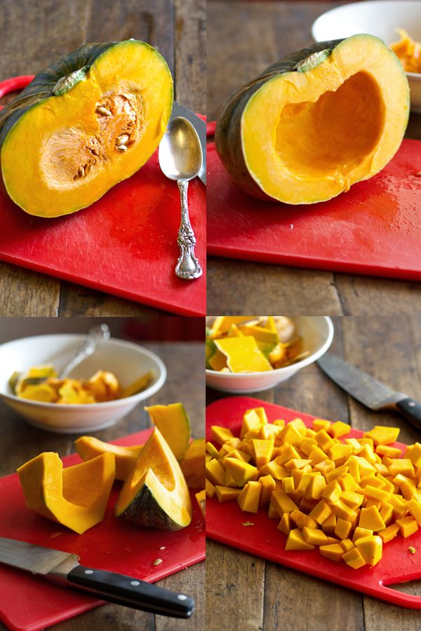 how to cut and peel a kabocha squash. please and thank you.
