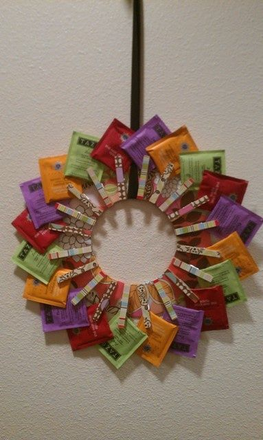 Tea Wreath.  Great Gift For A Tea Lover