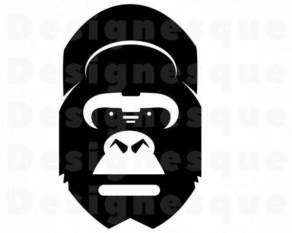 png Cricut Cut Files gorilla design Jewelry svg Silhouette Cut files eps ai Gorilla earrings dxf ape earrings gorilla svg pdf