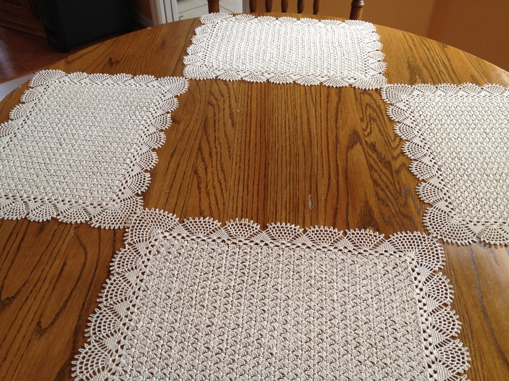 Free Printable Crochet Placemat Patterns : 17 Best images about Crochet Table Decor on Pinterest ...