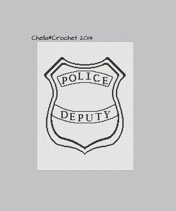 INSTANT Download Chella Crochet 911 Police Cop by chellacrochet