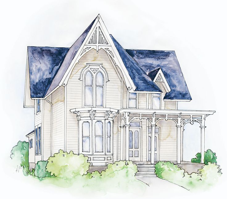 33 best gothic revival victorian images on pinterest for Gothic revival farmhouse