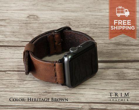 Apple Watch Band Leather Watch Band Minimal [Handmade] [Custom Colors] [FREE SHIPPING]