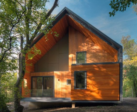 성냥갑 컨셉로 지어진 숲속 패시브 하우스 - Daum 부동산 커뮤니티:
