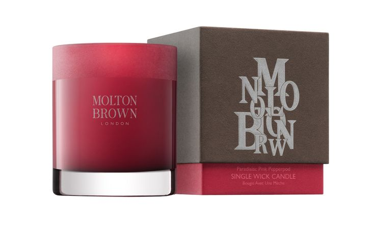 Paradisiac Pink Pepperpod Single Wick Candle, £36, Molton Brown moltonbrown.co.uk