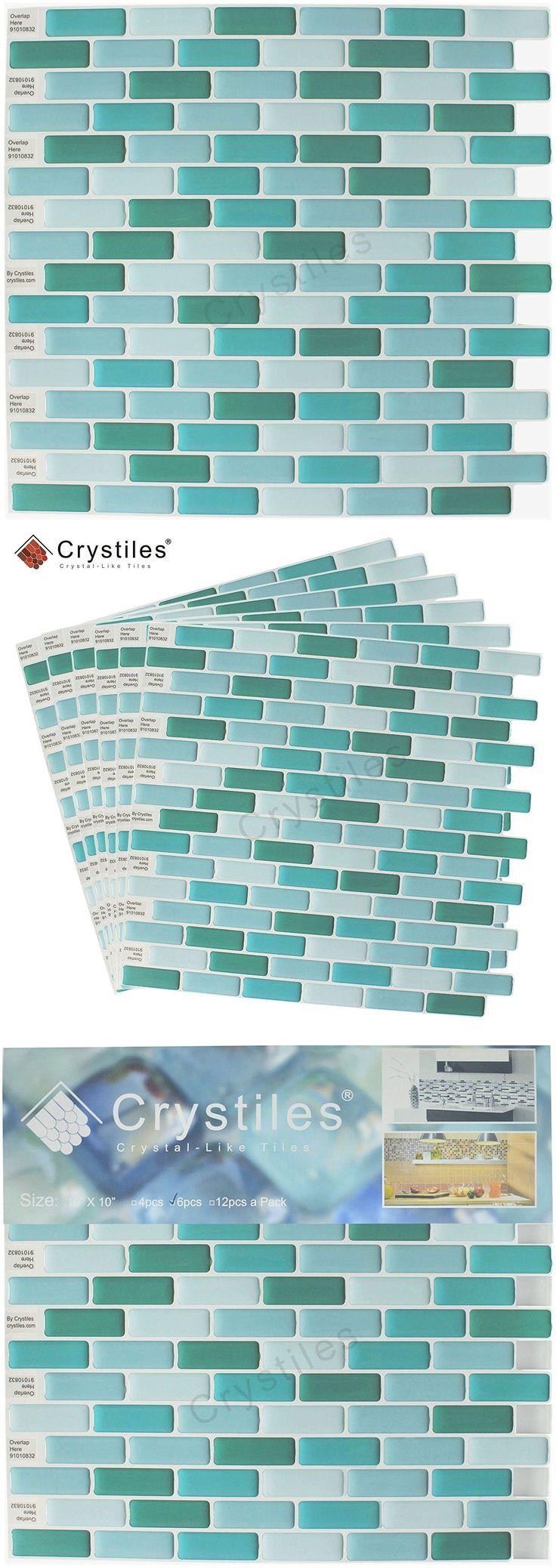 Floor and Wall Tiles 45800: Self Adhesive Wall Tiles Peel And Stick Kitchen Bathroom Backsplash Vinyl 10 X 10 -> BUY IT NOW ONLY: $47.99 on eBay!