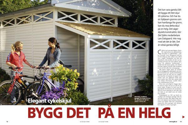 Elegant cykelskjul
