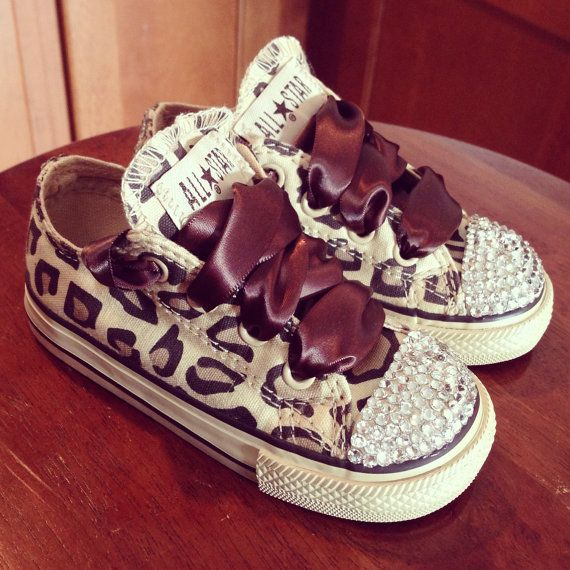 Hey, I found this really awesome Etsy listing at https://www.etsy.com/listing/181862659/cheetah-print-bling-converse