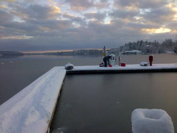 Winter Gas Dock