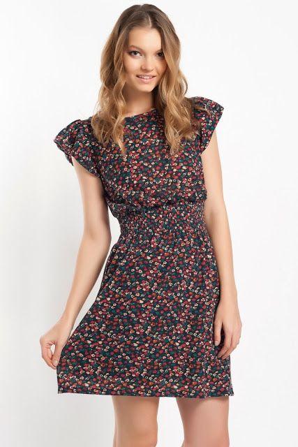 çiçek desenli kısa elbise, koton 2014 elbise modelleri, #koton #elbise #2014