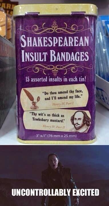 Shakespeare insult bandaids