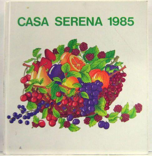 La Cassa dei Risparmi regalava l'agenda di Casa Serena. Di solito i miei genitori me la lasciavano: io leggevo le rubriche di cucina, fai-da-te, economia domestica, e usavo lo spazio libero per scrivere e disegnare ;) Questa del 1985 la ricordo bene!