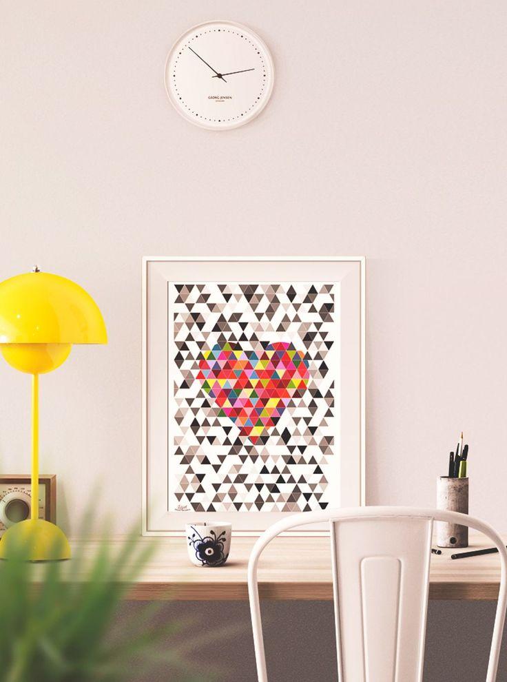 Valentine, geometric heart.