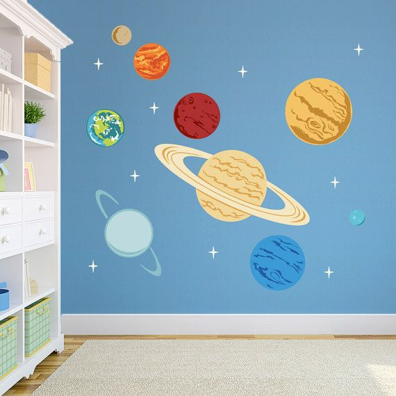 Planets Printed Wall Decal -Space Decal, Solar System Decal, Kids Space Decor…