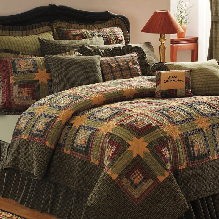 56 best Quilts images on Pinterest | Products, Bedroom and Girl ... : log cabin style quilts - Adamdwight.com