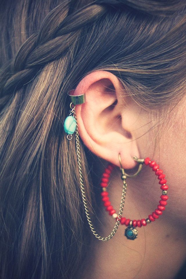 DIY ear cuff tutorial~ I want to make the earrings