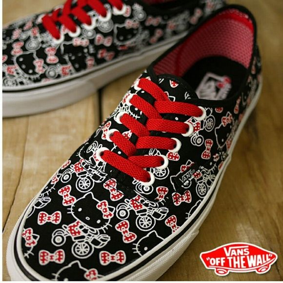FLASH SALEHello Kitty Vans Hardly used, comes with extra pair of brand new white laces from Vans. Vans Shoes Sneakers