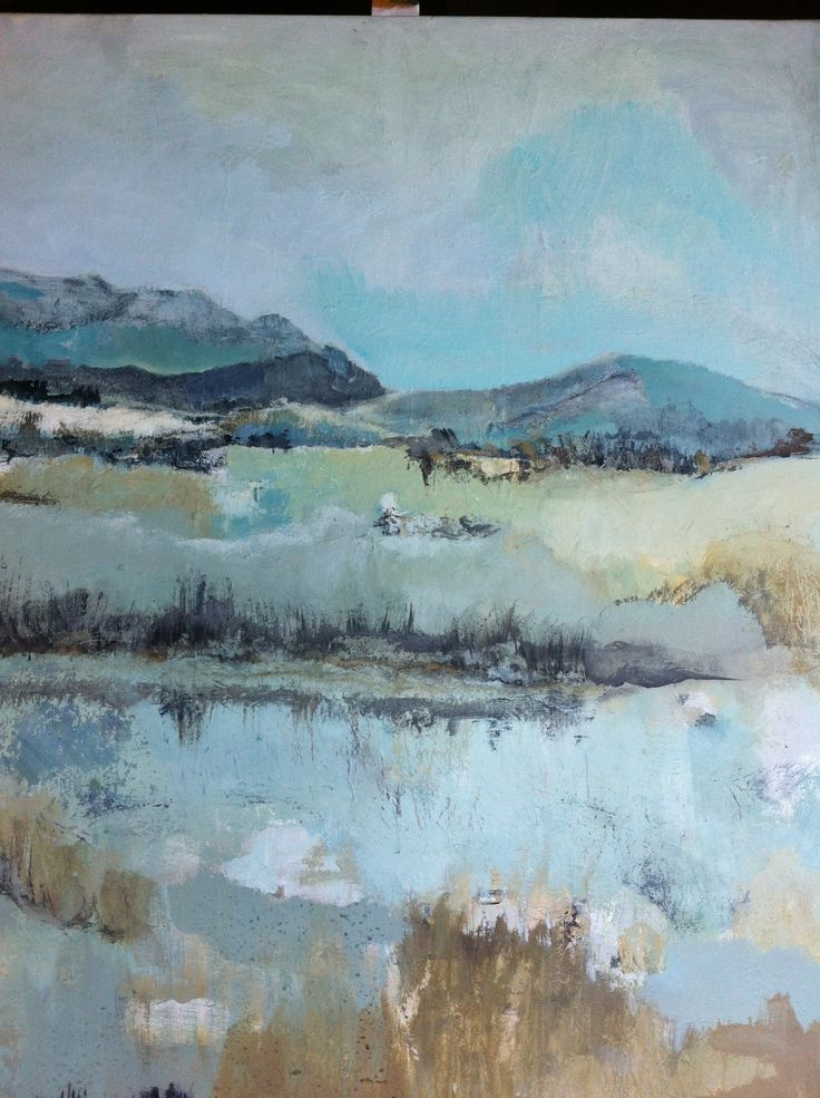 Abstract landscape, by Ellen, 100x120 painting artist at Art Studio Moes