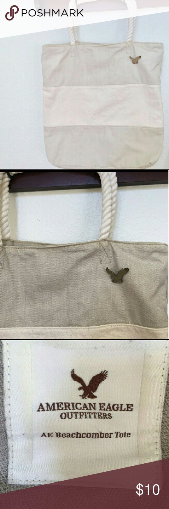 """AEO Tote Large sized tote, """"Beachcomber Tote"""" by American Eagle Outfitters. Excellent quality and condition. Very gently used, looks new. American Eagle Outfitters Bags Totes"""