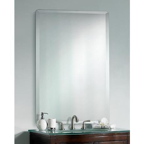 Frameless Rectangular 40 Quot High 30 Quot Wide Beveled Mirror
