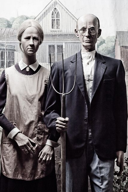 """American Gothic"" at the Wax Museum at Fisherman's Wharf in San Francisco, CA - photo by Thomas Hawk, via Flickr"