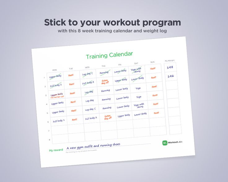 Stick to your workout program with this 8 week training ...