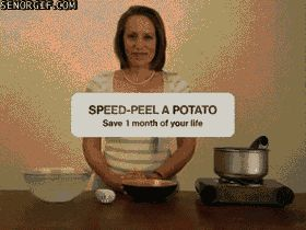 Peeling a potato made easy