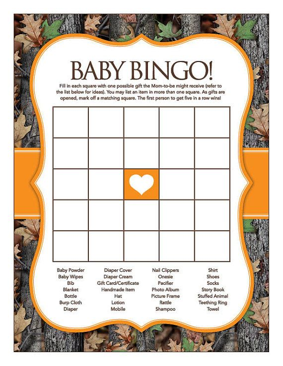 Instant Download Camo Baby Shower Games Pack by Studio20Designs