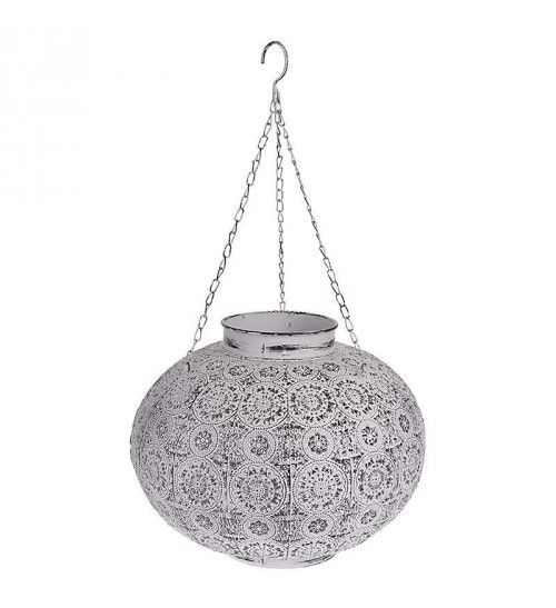 METAL LANTERN IN WHITE COLOR 34X34X27
