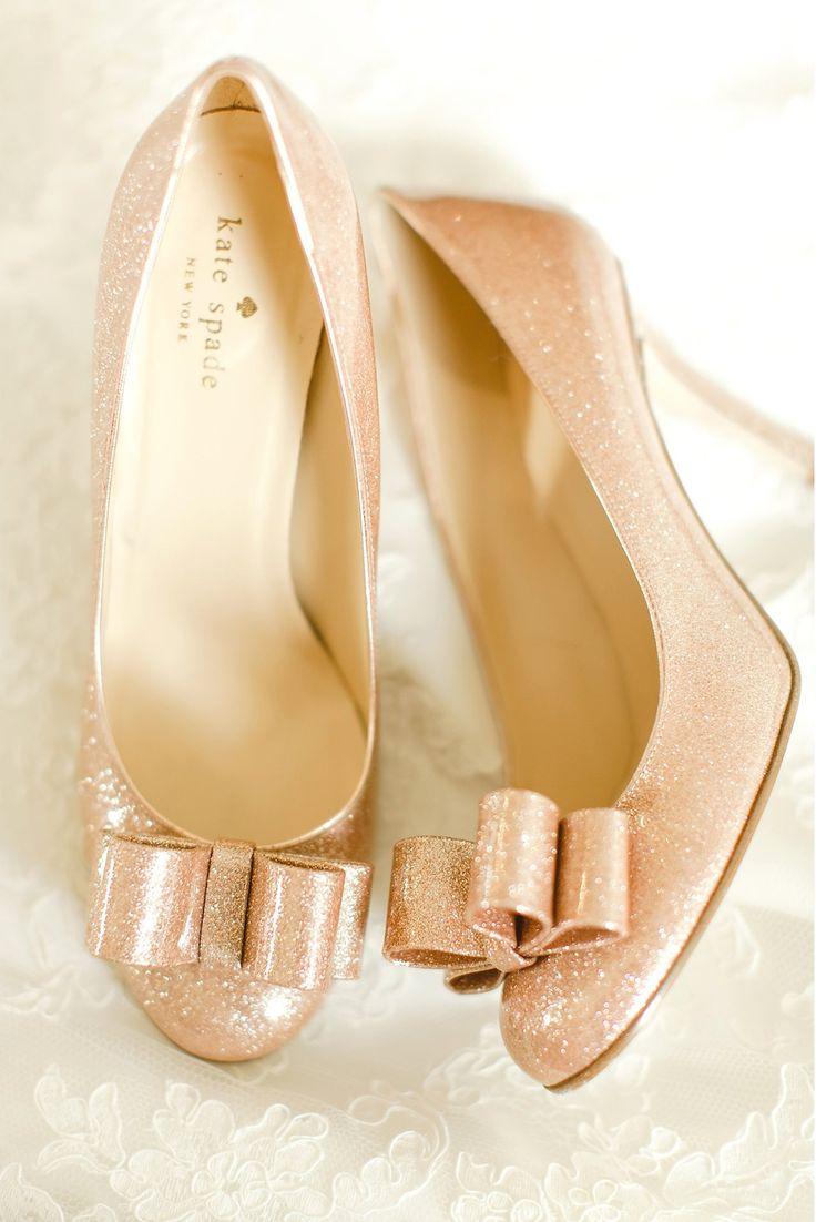 Glittery pink Kate Spade shoes! Photography: The Nolan's - christophernolanphotography.com/