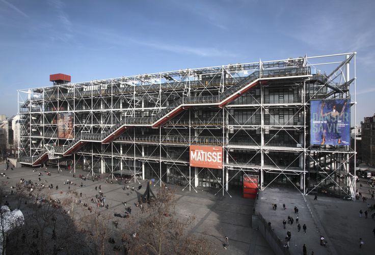 Musee d art moderne centre national d art et de culture - Centre george pompidou architecture ...