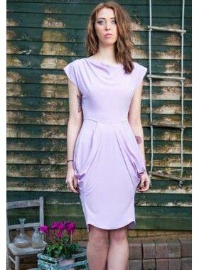 Estelle Pearce Lilac Drape Dress. Buy @ http://thehubmarketplace.com/Lilac-Drape-Dress #lilac #drape #summer #wedding